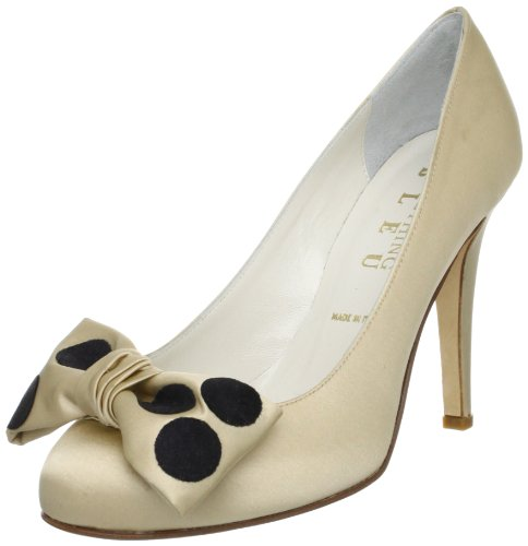 Something Bleu 女 沙丁布高跟鞋 Creative 卡其色 37(亚马逊进口直采,意大利品牌)-图片