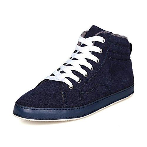 冬季男鞋高帮鞋男休闲鞋板鞋保暖鞋男士马丁靴子韩版潮流潮鞋