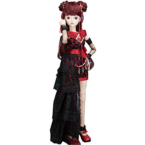 艾萌 精灵梦叶罗丽仙子娃娃芭比娃娃套装玩具 动漫系列 (60cm, 黑暗图片