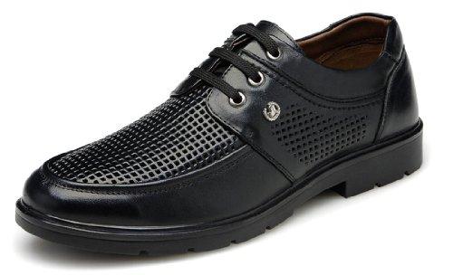FGN 富贵鸟 夏季新款男鞋 正品镂空透气鞋 男士商务时尚皮鞋 舒适休闲真皮男鞋 优雅品味男鞋