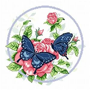 dmc 多美绣 客厅大画书房卧室欧式花卉油画蝴蝶小花 法国 十字绣 11ct