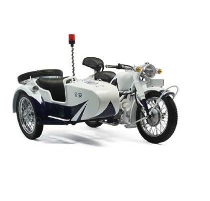 跃纪生 国产1:10长江750三轮跨子三轮挎斗摩托车模型合金车模仿真车