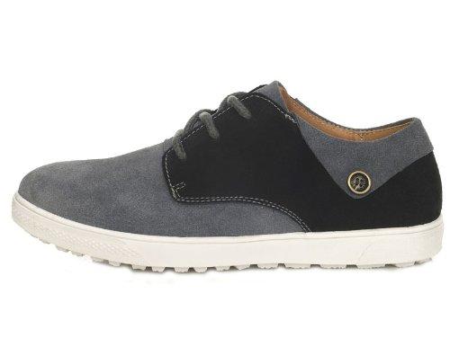 Guciheaven 英伦风时尚型男最爱 柔软真皮舒适透气休闲鞋 头层牛皮 男士商务男鞋 反毛皮板鞋