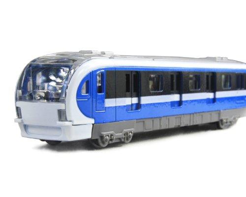 玩具火车 玩具车 合金回力车模 火车模型 声光地铁7030 (蓝色)