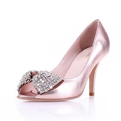 蝶结高跟气质女凉鞋