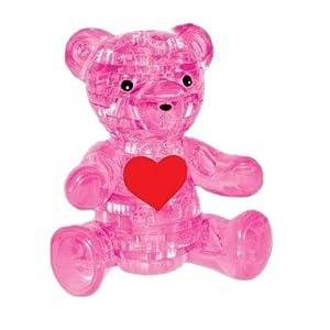 领智水晶积木3d立体水晶小熊拼图模型益智玩具生日礼品儿童礼物
