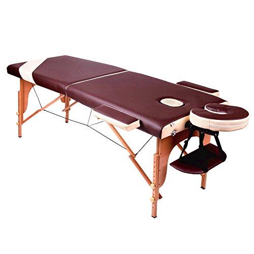 GESS 德国品牌 GESS2500 折叠按摩床 美容美体床 理疗床 两折木质按摩床195*70厘米-图片