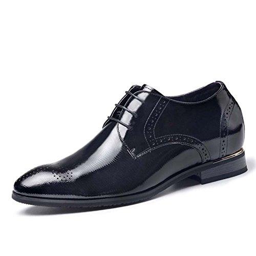 2015秋季新款男士隐条纹内增高商务皮鞋6.5厘米815672