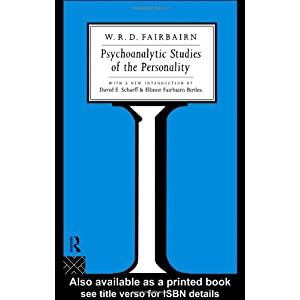 Psychoanalytic Studies of the Personality人格的精神分析研究