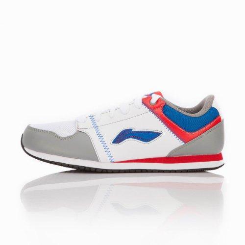 Li Ning 李宁 男经典运动休闲鞋ALCG339-3(简洁的线条,人性化透气孔的设计,保证了舒适的鞋内环境。鞋底纹路立体感强,防滑、耐磨性能进一步完善。穿着更加轻便舒适,贴合脚面)