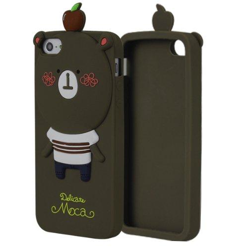 苹果5代手机套 5代保护手机外套壳 潮 (硅胶保护套 罗曼尼 卡通动物