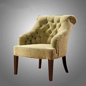 欧斯莱迪 布艺单人沙发椅 宾馆新古典家具欧式休闲椅子 los-ml15 棕色