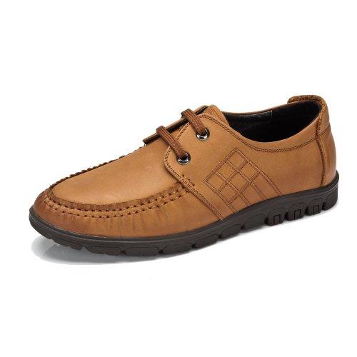 骆驼牌 男鞋男士休闲皮鞋 板鞋子男式鞋 头层牛皮春男单鞋 W32213024