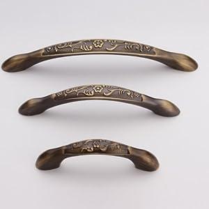 柜门抽屉衣柜仿古橱柜美式欧式纯铜双孔青古铜小拉手