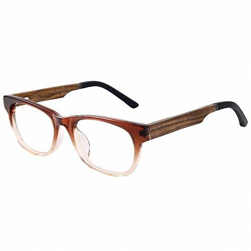 商品parzin 帕森 复古眼镜框架 男女板材檀木眼镜架可配近视正品眼镜