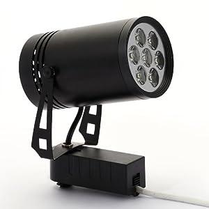 JY 晶映照明 LED节能型 7W 超亮轨道射灯 黑色 航空铝灯杯壳体散热器 配套驱动器 220V 暖白光 展厅服装等重点照明k01