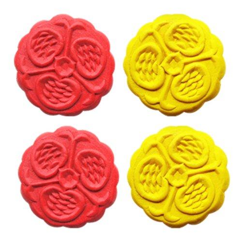 diy月饼冰箱贴手工材料包 中秋节礼盒礼品仿真彩泥玩具木质制模具 (4