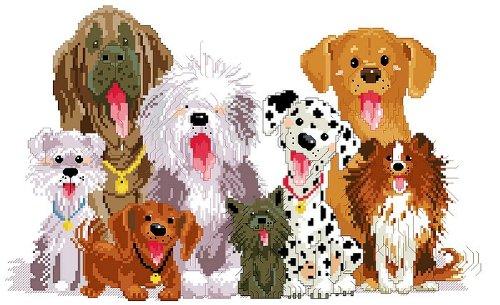 万众家园 十字绣 客厅动物画 儿童房 我们都是一家人