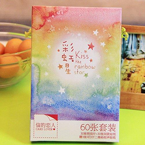 创意潮流手绘梦幻水彩贺卡卡片