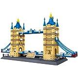 万格 儿童益智小颗粒积木 著名建筑系列之英国伦敦桥 8013