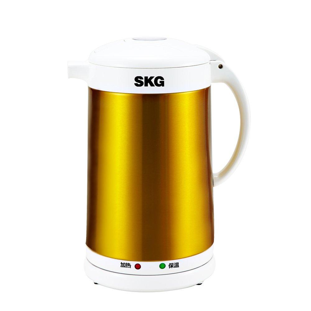 skg 电热水壶 wl2120b 保温电水壶 开水壶 电水瓶 2升容量 玫瑰金