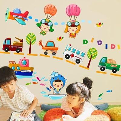 儿童房幼儿园可移除益智墙贴纸