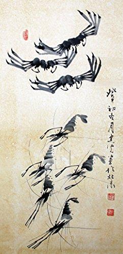 宣澄艺购 刘建光 螃蟹,虾 三尺竖幅 国画动物画 动物画图片