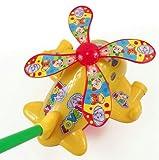 HABIBI 大号拉杆会吐舌头会眨眼睛的手推飞机 手推车 助步车 学步车 宝宝学步玩具-图片