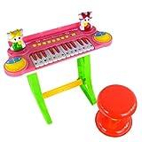 宝丽 儿童乐器 音乐玩具琴 儿童电子琴玩具 升级教学版 配乐谱架凳子 3125A-图片