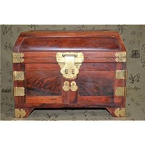 红木首饰盒大红酸枝木雕大号榫卯结构百宝箱收纳盒工艺品结婚礼物