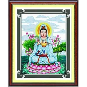 印象 精准印花十字绣 观音盛世 mg070 尺寸71 91cm 高清图片