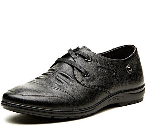 FUGUlNIAO 富贵鸟 英伦男式系带时尚潮流经典百搭低帮牛皮真皮正装鞋商务休闲鞋皮鞋子男鞋子