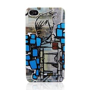 d-park 灰色都市系列 个性光面质感 苹果iPhone4/4S手机保护外壳 (Grayland-Brick--比睿)