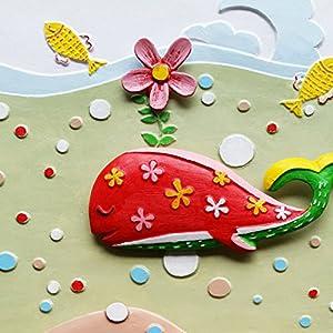 小画匠 diy海底世界数字油画儿童房鲸鱼动漫手绘立体画学生手工画