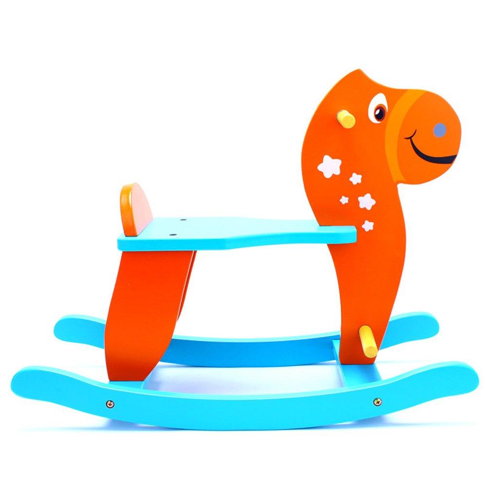 开心玛特 摇摇马儿童木马摇马 木制摇马玩具户外运动传统儿童玩具 c款