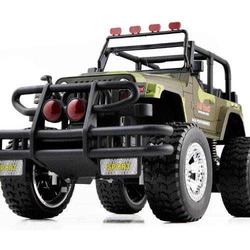 胜雄 牧马人1 10超大音乐声光遥控车遥控汽车模型吉普越野高清图片