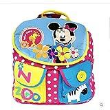 真彩迪士尼米奇米妮幼儿园小班双肩书包 可爱卡通书包零食包 M626033 粉蓝 (粉色)-图片