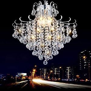 kvidi 欧式led水晶吊灯餐吊灯饭厅灯过道水晶灯玄关卧室灯具灯饰 小号