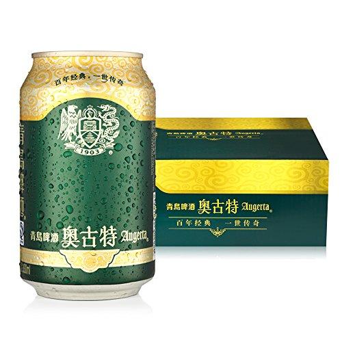 tsingtao 青岛啤酒 奥古特330ml*24听 德国啤酒风味 官方直营品质保障