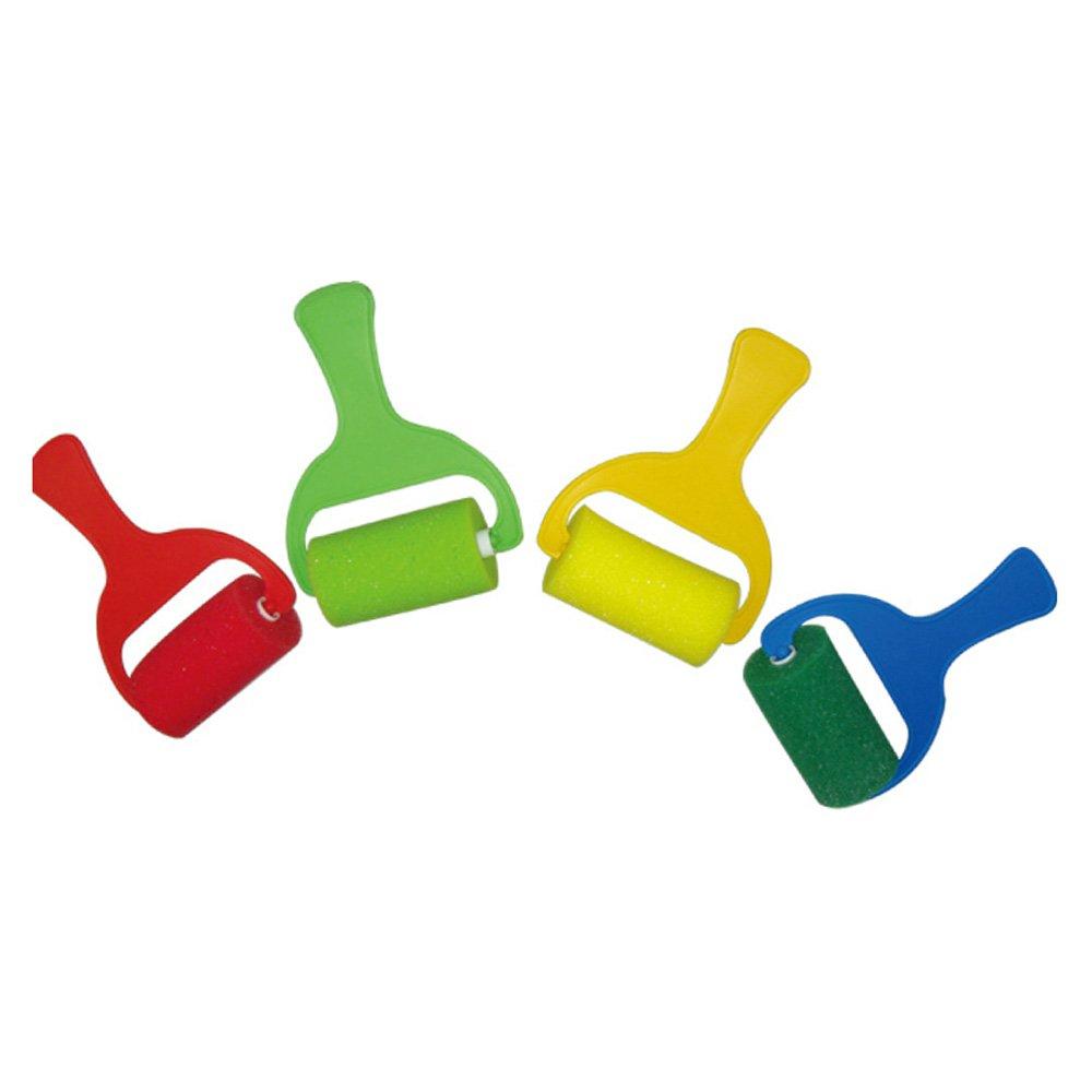 七色花 幼教幼儿园美术用品diy绘画画工具海绵滚轮子211