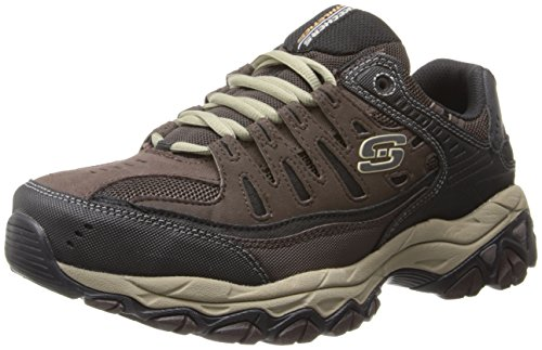 Skechers男士  Afterburn M. Fit  系带 Brown/Taupe 14 4E US