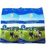 澳滋 OZ FARM 速溶全脂奶粉1kg*2袋 成人奶粉 100%澳大利亚原装进口(买就送5g进口海苔片)  生产日期2013年12月17日-2015年12月17日-图片