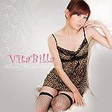 vitabilla 唯它彼乐 豹纹野性唤醒吊带性感家居服-图片