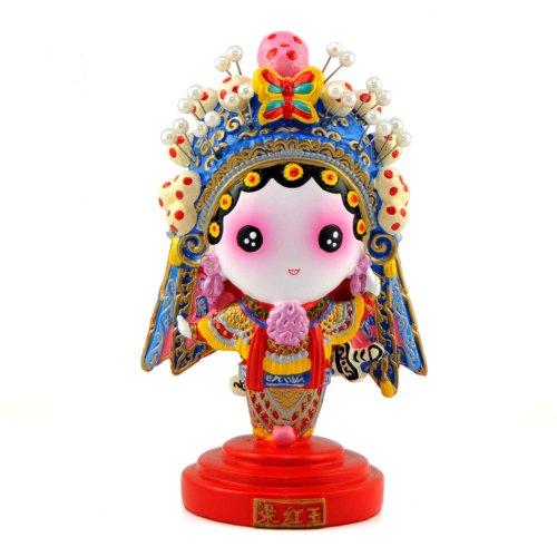 稻禾q版卡通京剧娃娃 创意家居客厅装饰摆件 中国风节日商务出国礼品