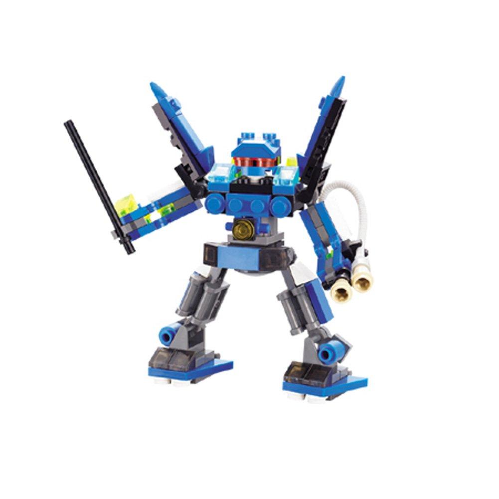 颇奇玩具 3d立体拼装搭建塑料积木-迷你机器人 魔神王子 开发智力