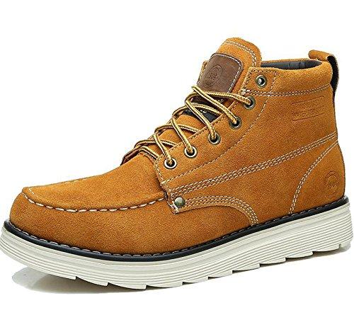 Unbeaten 超酷时尚 全手工缝制鞋 保暖抗寒 头层牛皮 高帮靴 真皮 男靴 工装靴 马丁靴 男鞋