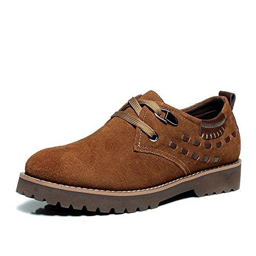 木林森(MULINSEN)时尚休闲男鞋新款英伦轻质厚底单鞋潮流240184板鞋