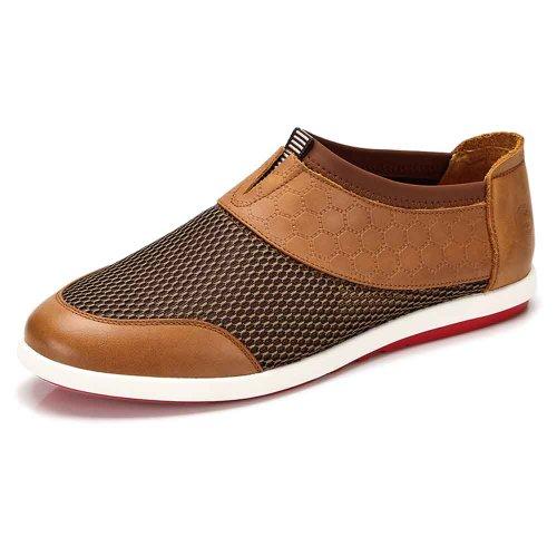 骆驼牌 新款男鞋子日常休闲鞋男士透气牛皮鞋潮男鞋 W422213006