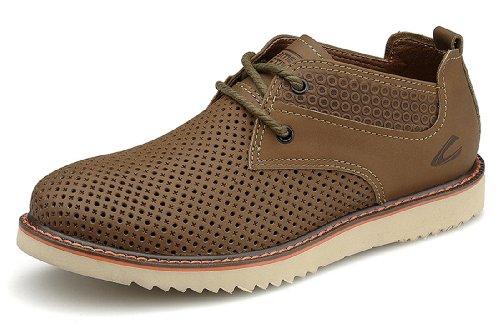 Camel Active 骆驼动感 夏季新款男鞋 英伦风男士休闲运动鞋 时尚冲孔清凉透气潮流板鞋 系带滑板鞋