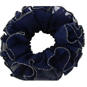 健祥 新品九折饰品韩国发饰头饰发圈头花发绳橡皮筋金丝边雪纺花朵
